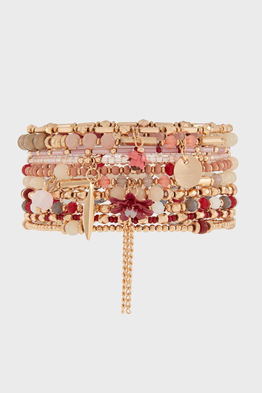 Женский розовый браслет BON BON STRETCH (10 шт)