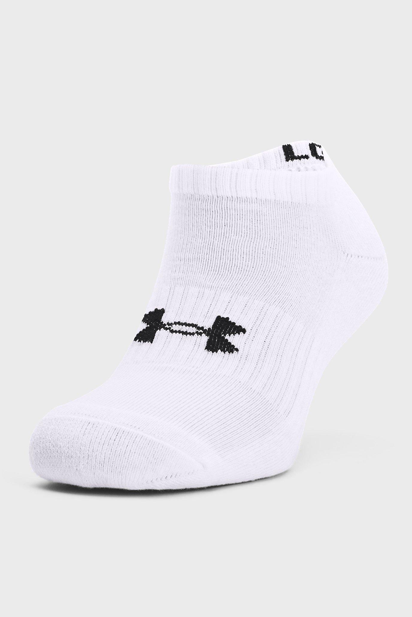 Білі шкарпетки UA Core No Show (3 пари) 1