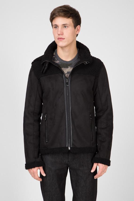 Мужская черная куртка REGULAR FIT ECOSHEARLING