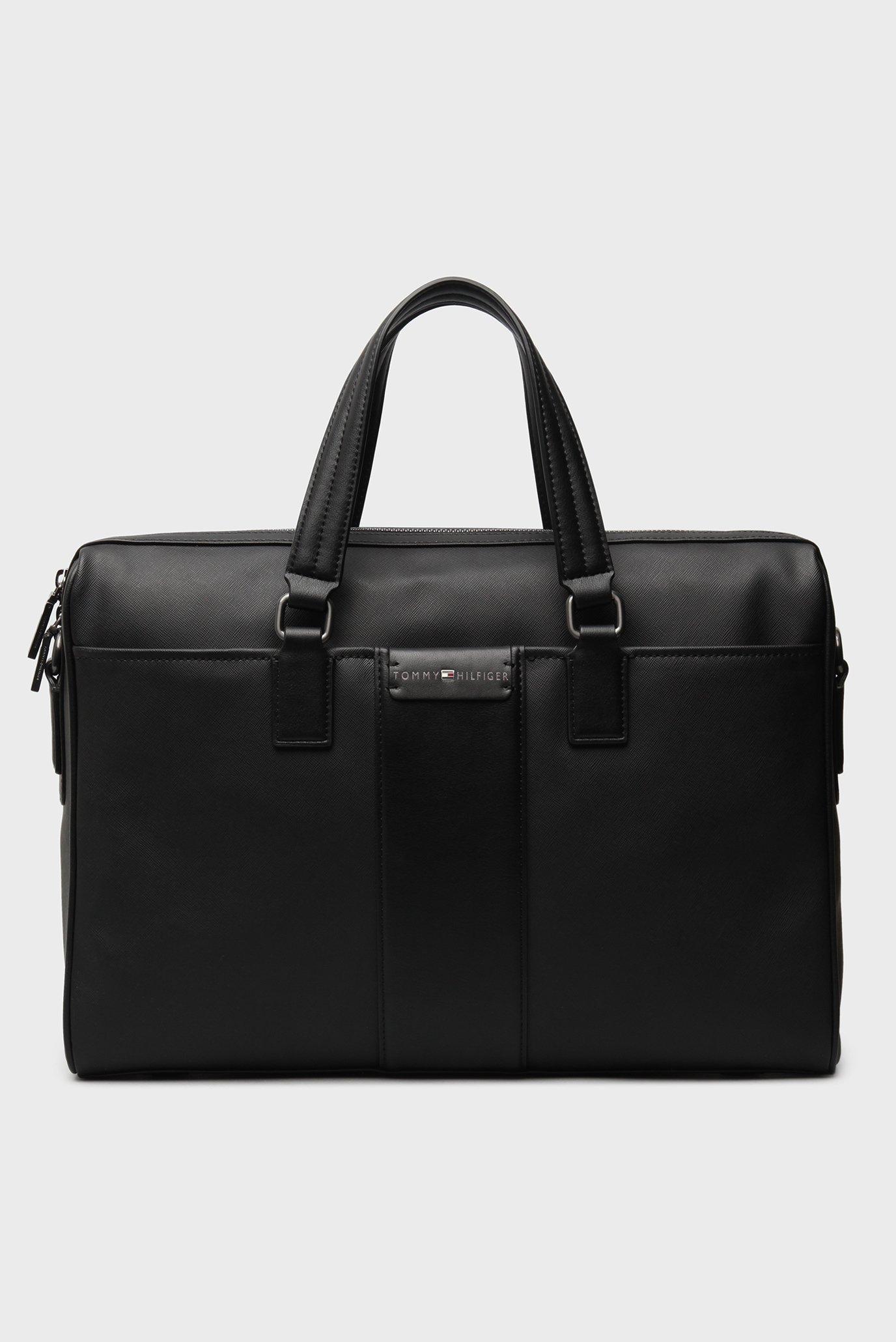 bcdca06232d7 Купить Мужская черная сумка для ноутбука Tommy Hilfiger Tommy Hilfiger  AM0AM02172 – Киев, Украина. Цены в интернет ...