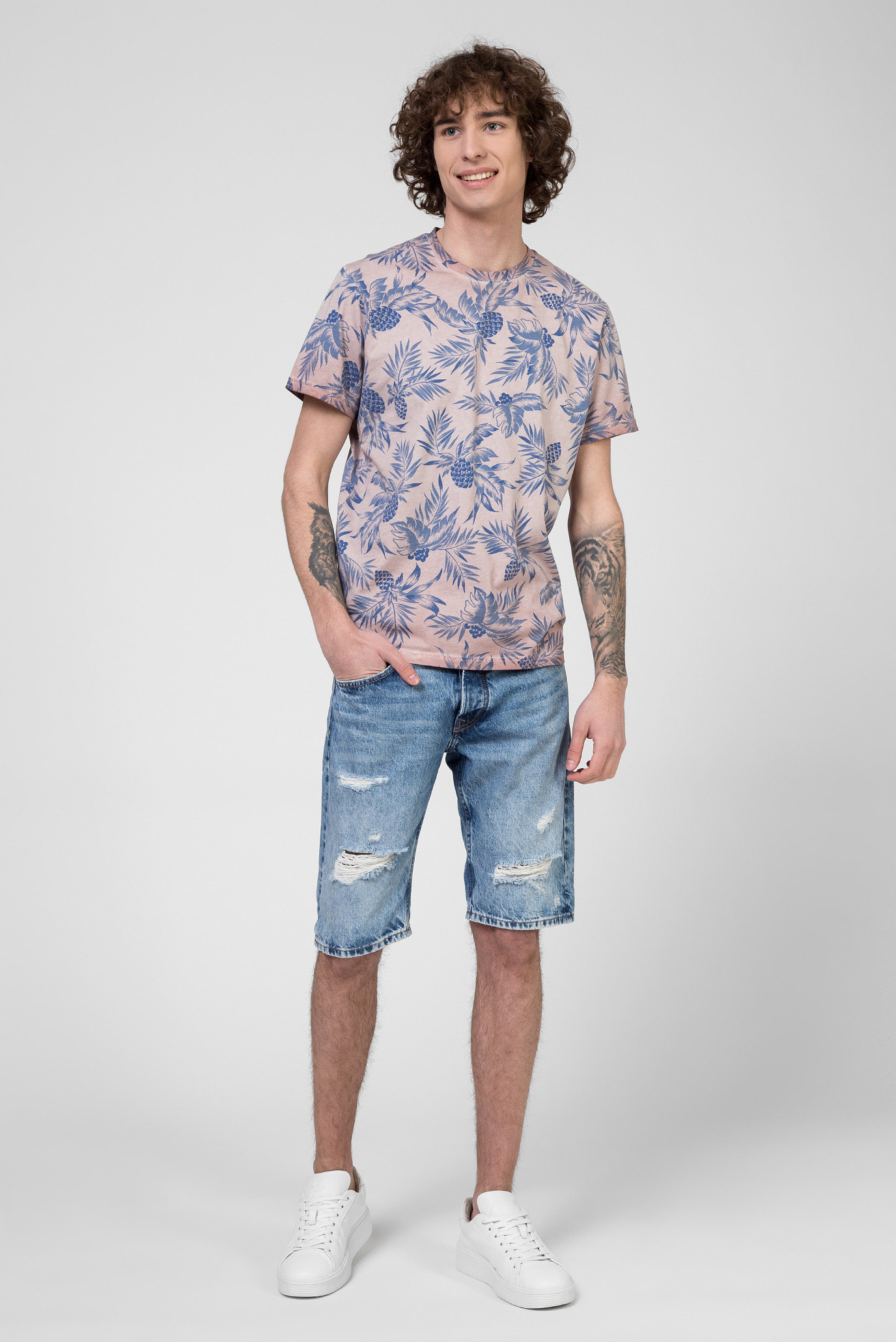 Мужские голубые джинсовые шорты CALLEN Pepe Jeans