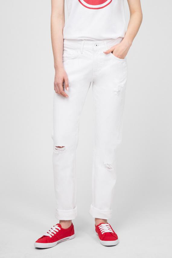 Женские белые джинсы MABLE