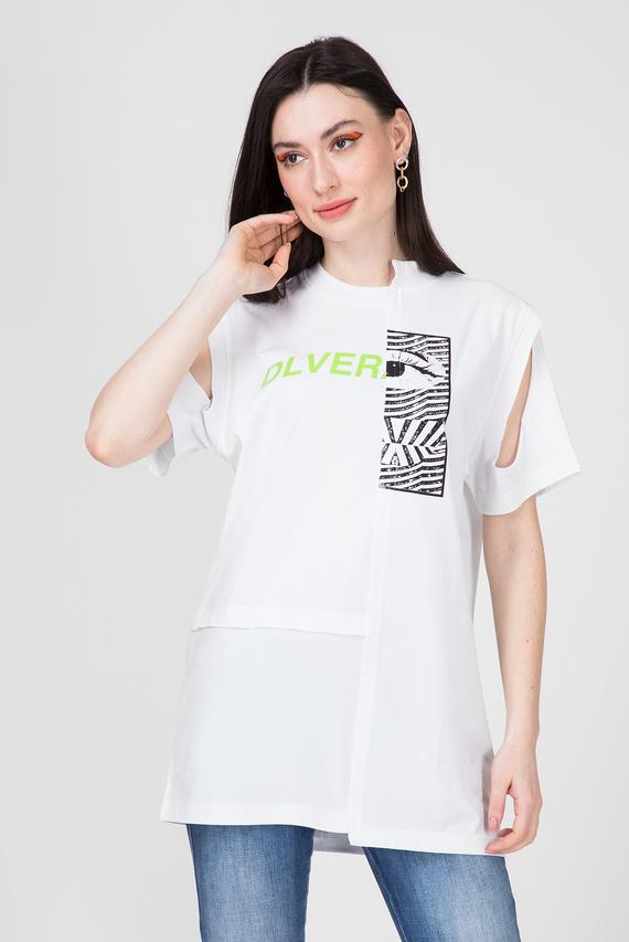 Женская белая футболка T-GOMEZ