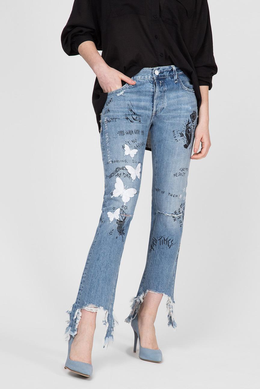 Женские голубые джинсы JOPLYN