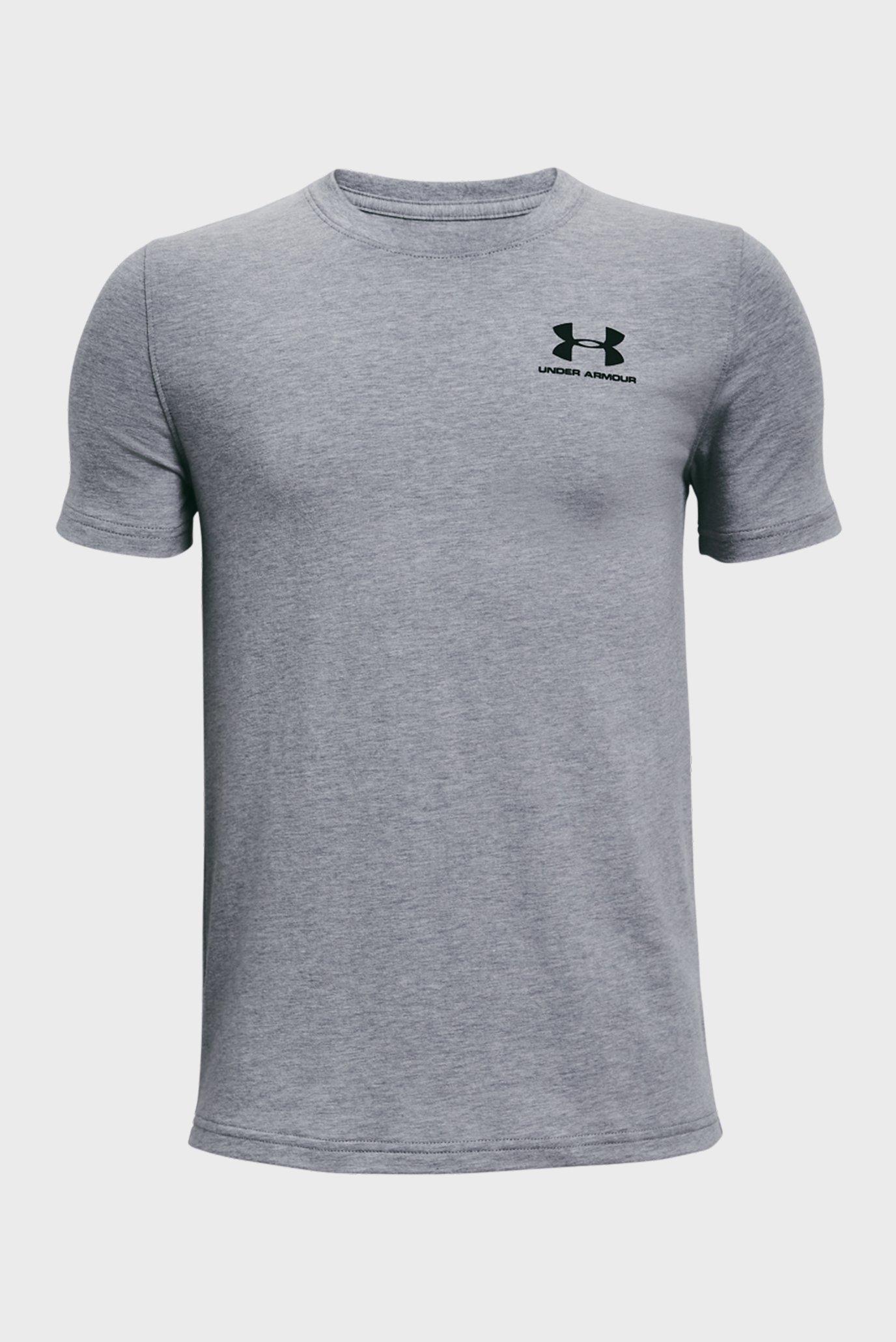 Детская серая футболка UA Cotton SS 1