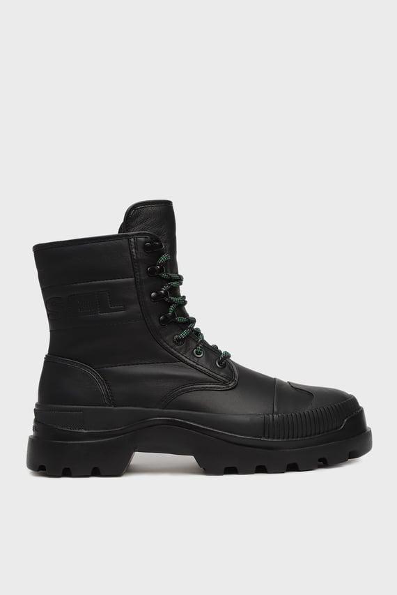 Мужские черные кожаные ботинки VAIONT / D-VAIONT DBB II