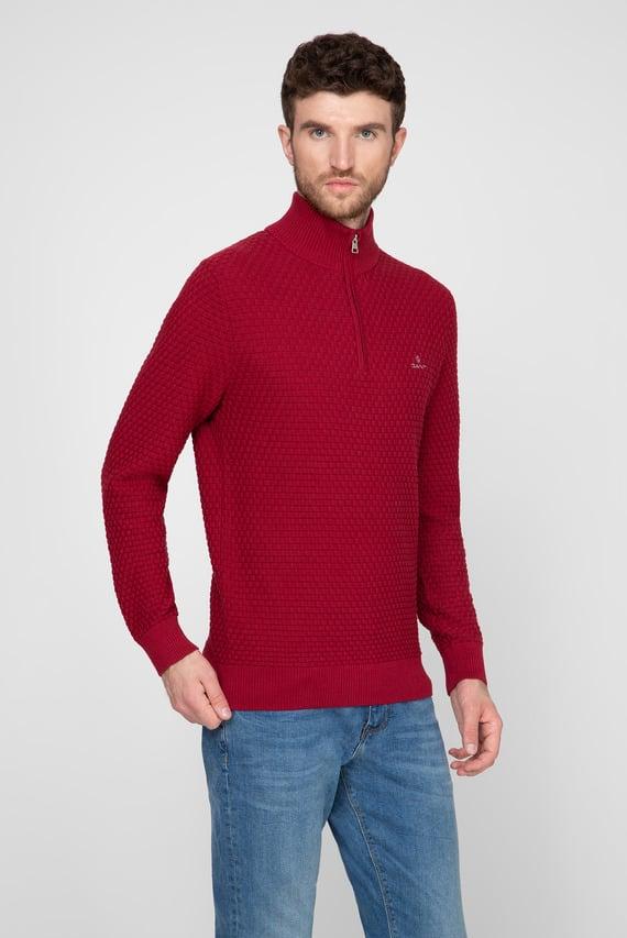Мужской бордовый свитер SIGNATURE WEAVE