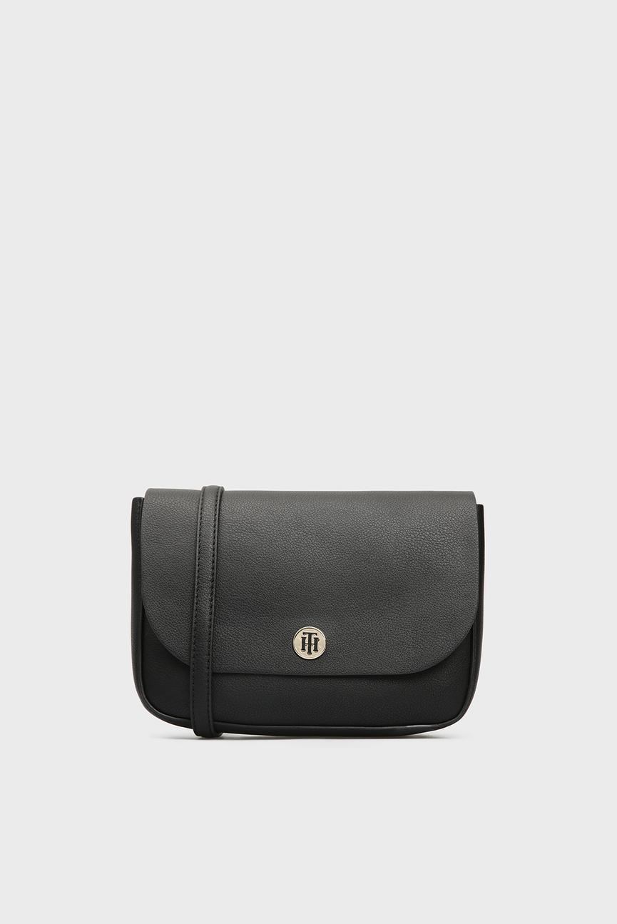 Женская черная сумка через плечо MY TOMMY CROSSOVER