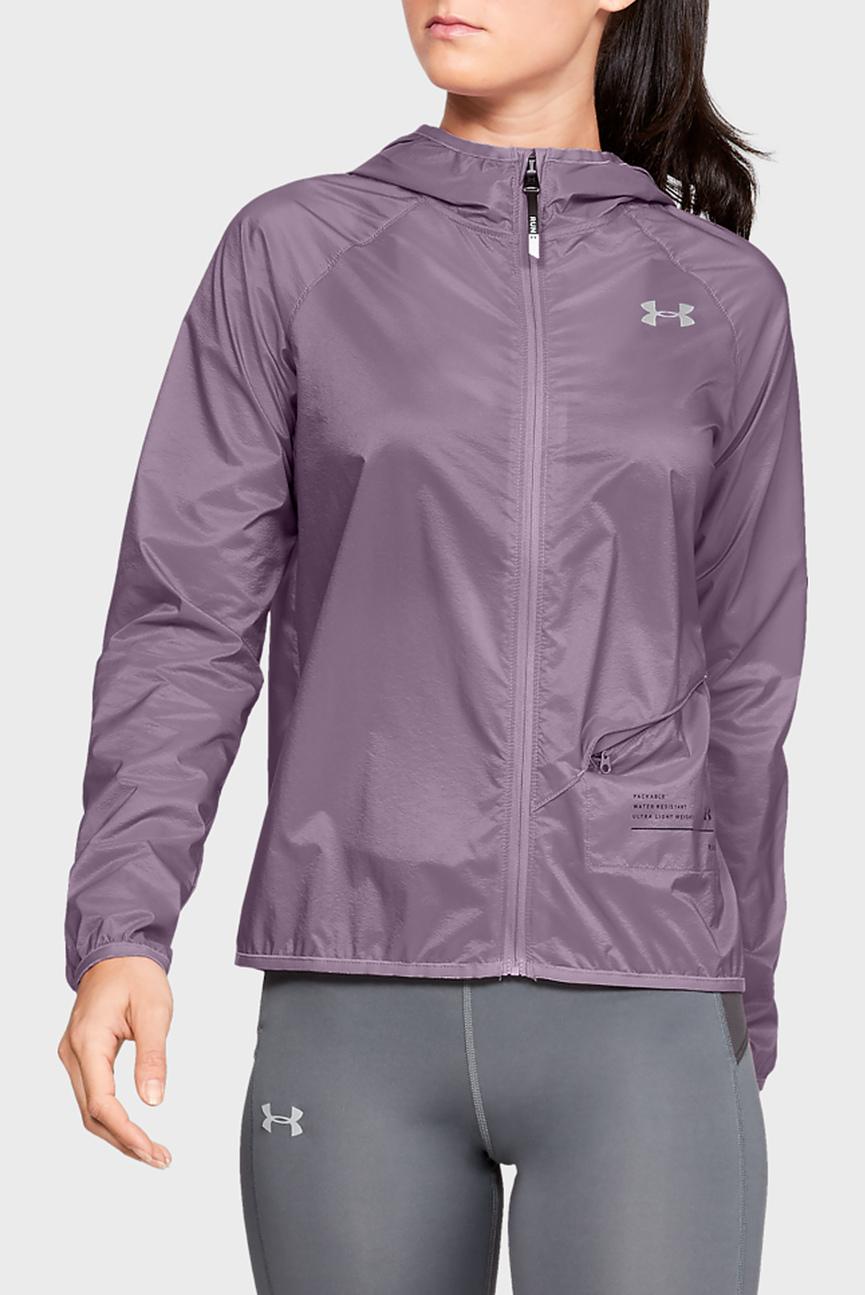 Женская фиолетовая ветровка UA Qualifier Storm Packable Jacket