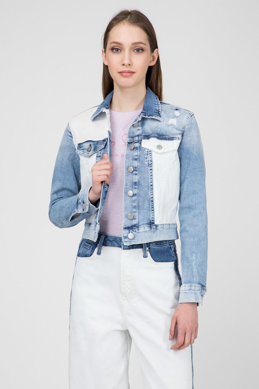 Женская голубая джинсовая куртка TESS MIX
