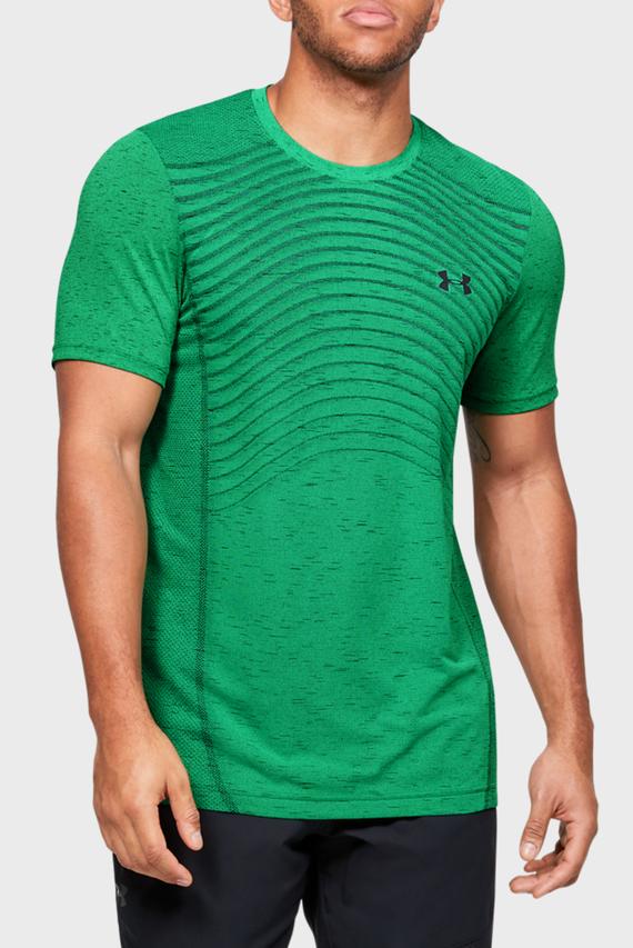 Мужская зеленая спортивная футболка Seamless Wave SS