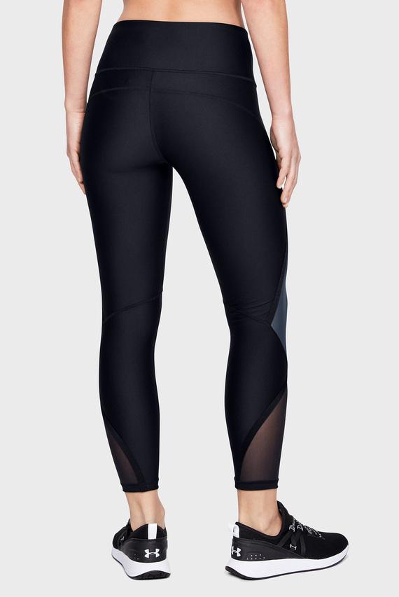 Женские черные тайтсы UA HG Armour Shine Ankle Crop
