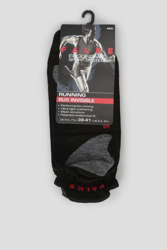 Мужские черные носки для бега RU5 INVISIBLE