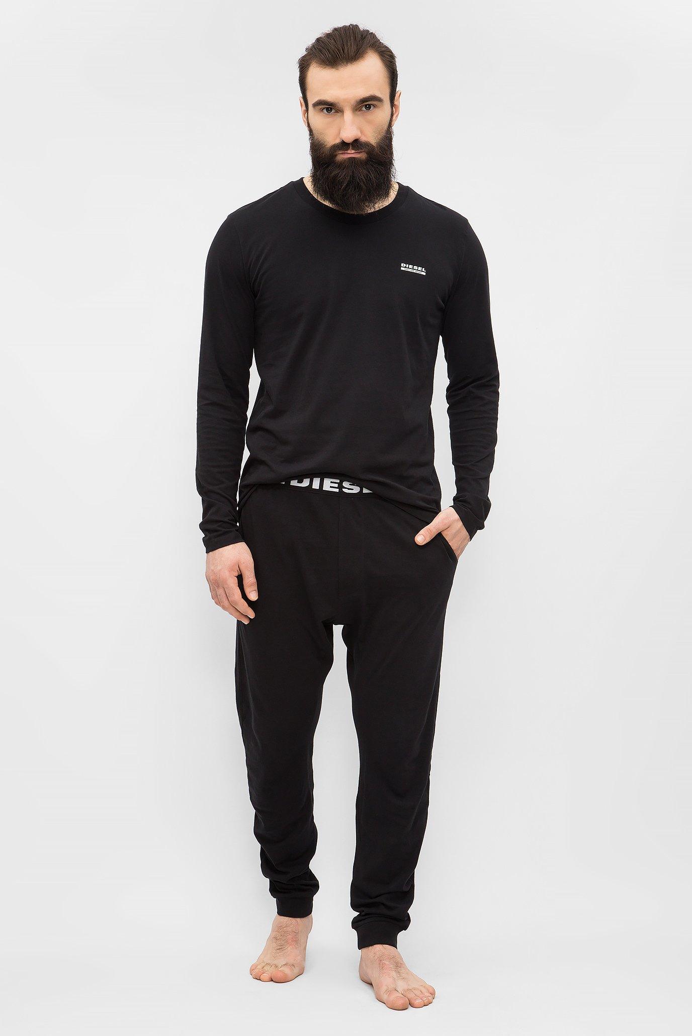 73ab1382df689 Купить Мужская черная пижама (лонгслив, брюки) Diesel Diesel 00S9ND 0CALD –  Киев, Украина. Цены в интернет магазине MD Fashion