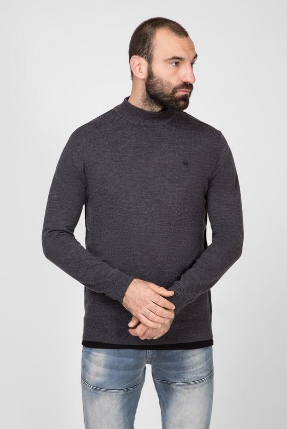 Мужской серый шерстяной свитер