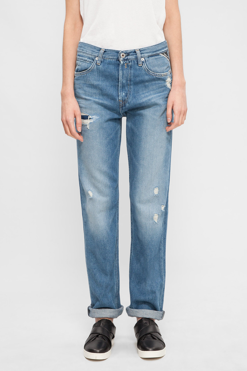 Женские синие джинсы MARILLARD