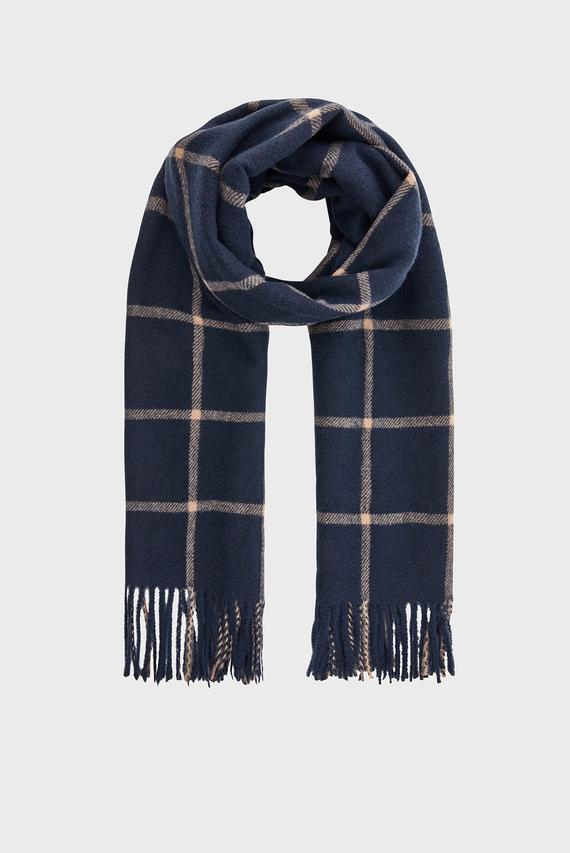 Женский синий шарф CARTER WINDOW PANE C
