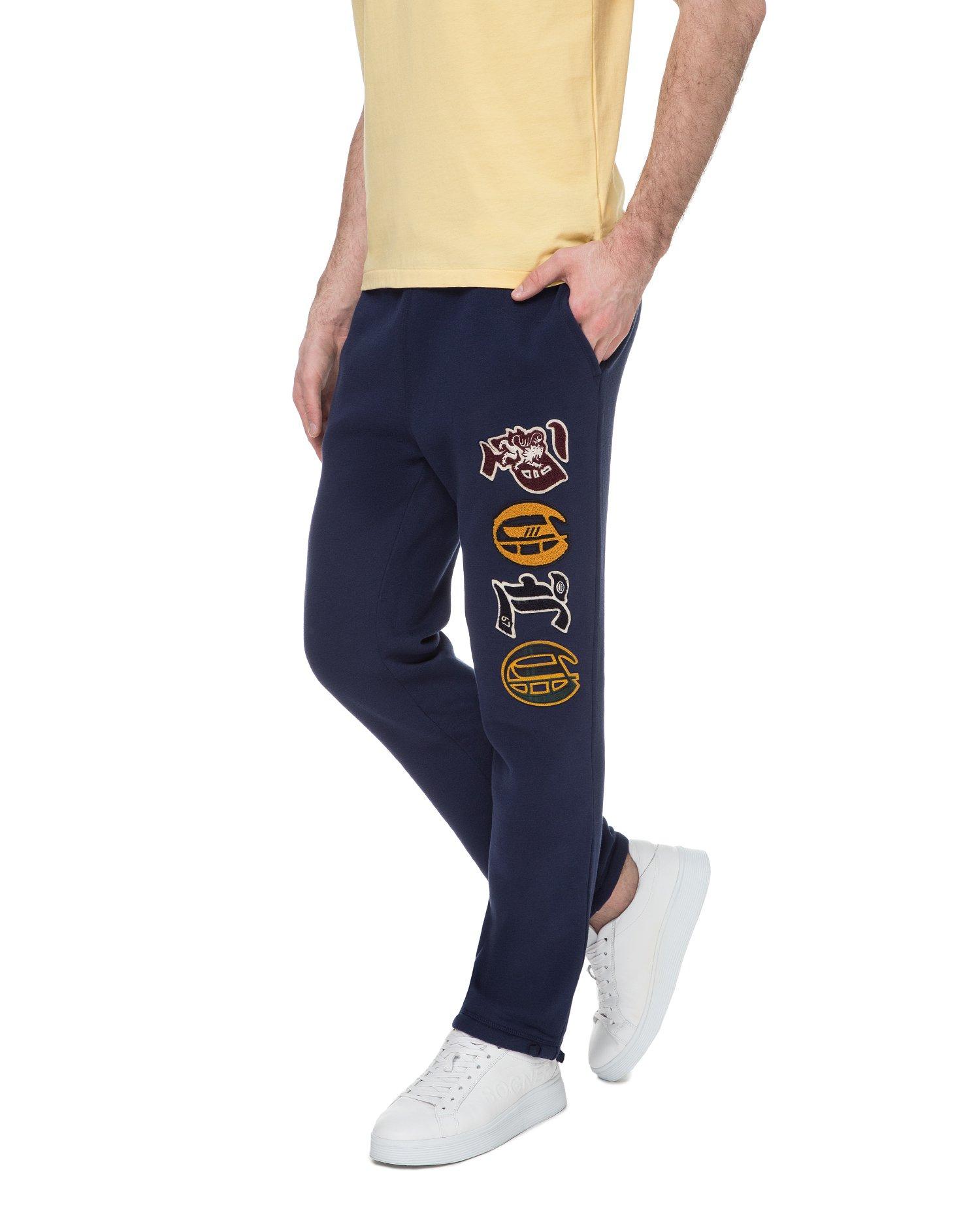 Чоловічі темно-сині спортивні штани 1