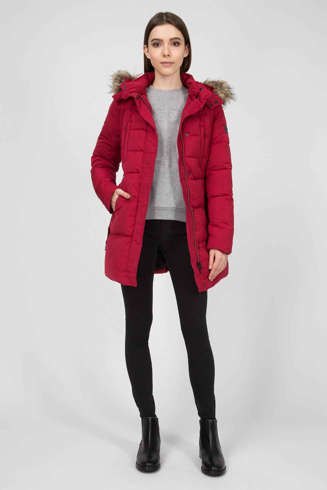 Купить Женский красный пуховик LIA Pepe Jeans Pepe Jeans PL401555 – Киев, Украина. Цены в интернет магазине MD Fashion