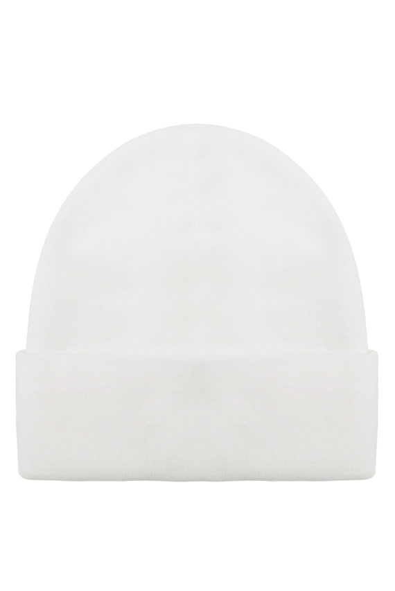 Мужская белая шапка