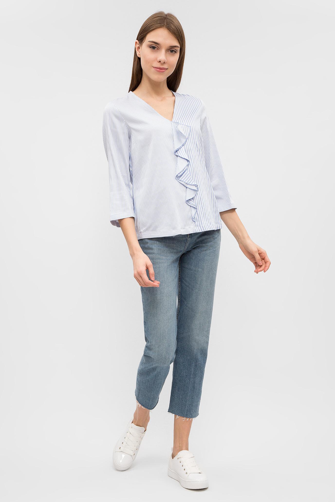 Купить Женская голубая блуза в полоску Tommy Hilfiger Tommy Hilfiger WW0WW20890 – Киев, Украина. Цены в интернет магазине MD Fashion