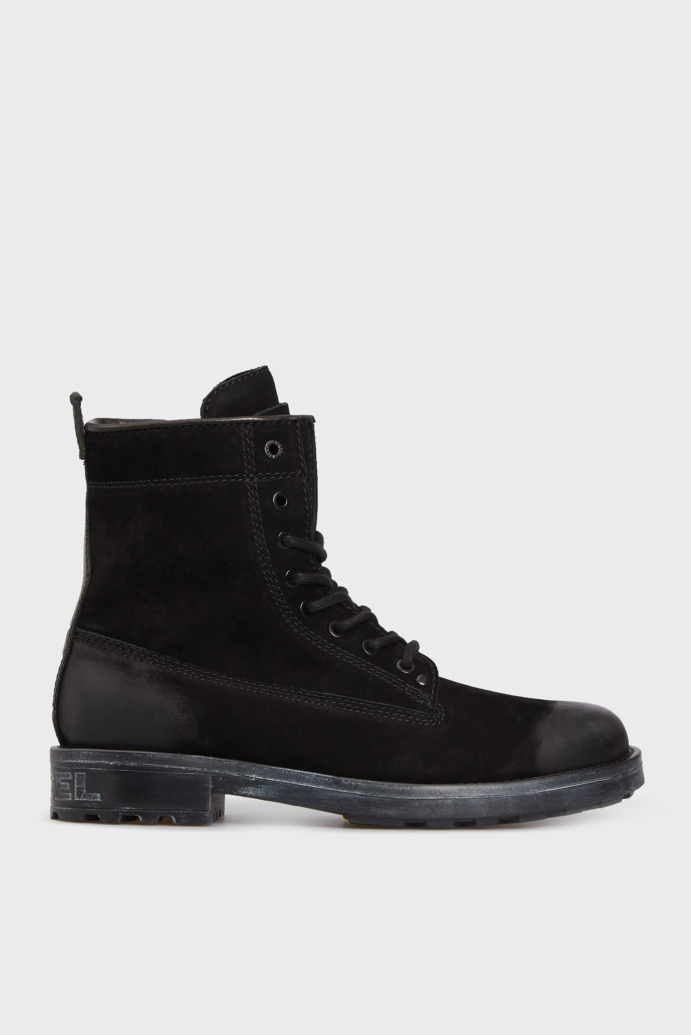 Чоловічі чорні шкіряні черевики THROUPER 1