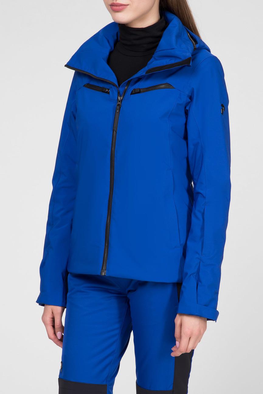 Женская синяя лыжная куртка