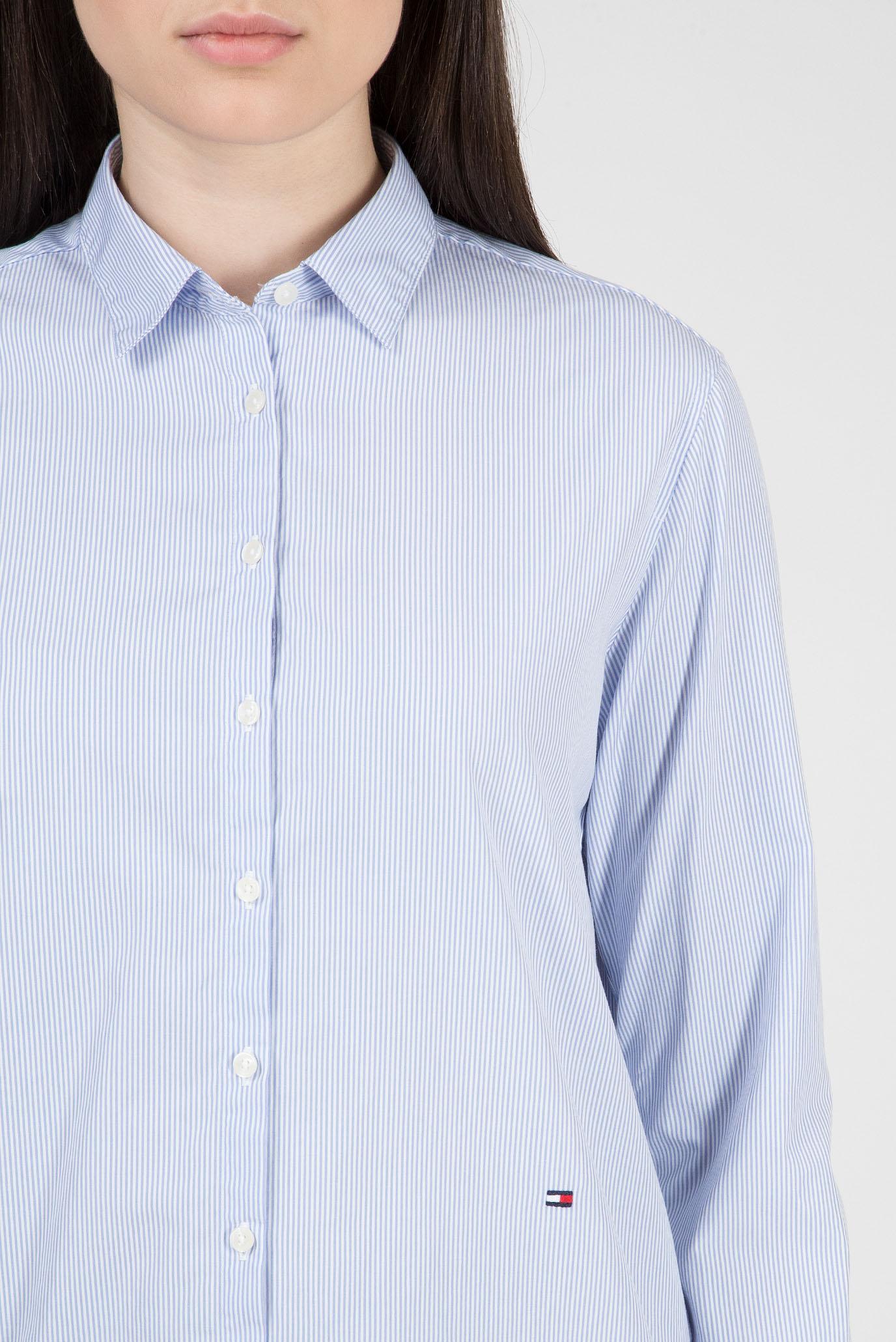 Купить Женская голубая рубашка в полоску MONICA Tommy Hilfiger Tommy Hilfiger WW0WW23981 – Киев, Украина. Цены в интернет магазине MD Fashion