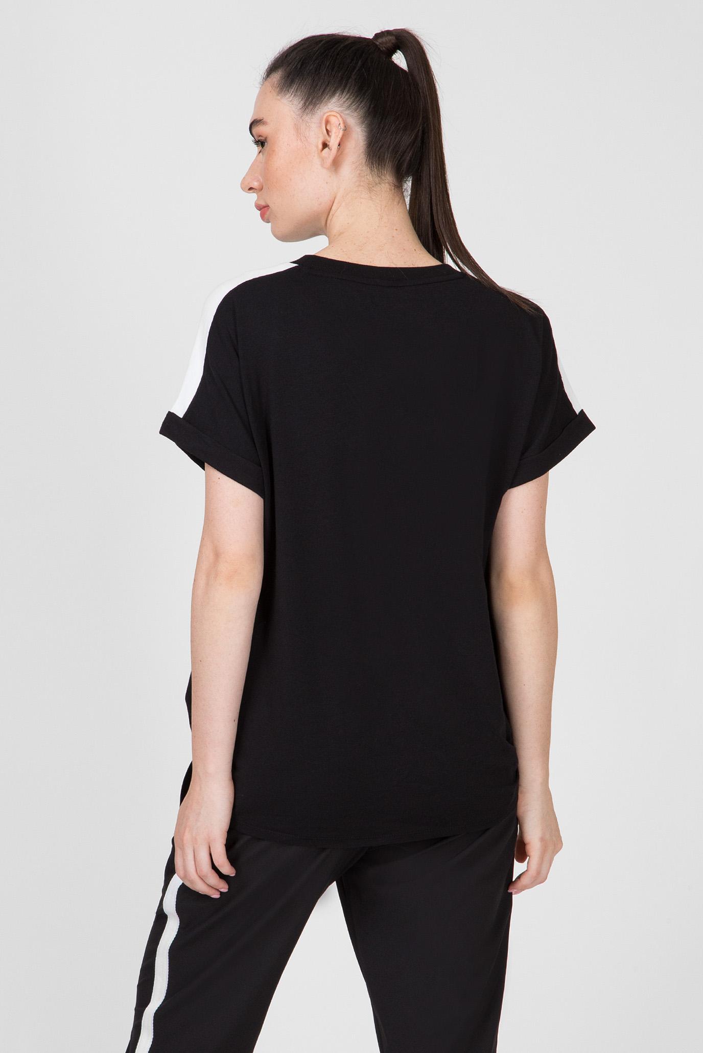 Купить Женская черная футболка RELAXED TEE-SOLID DKNY DKNY DP9T6629 – Киев, Украина. Цены в интернет магазине MD Fashion