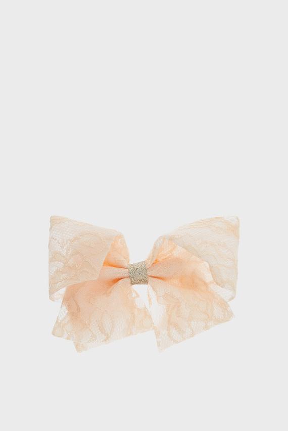 Детская розовая заколка Large Lacey