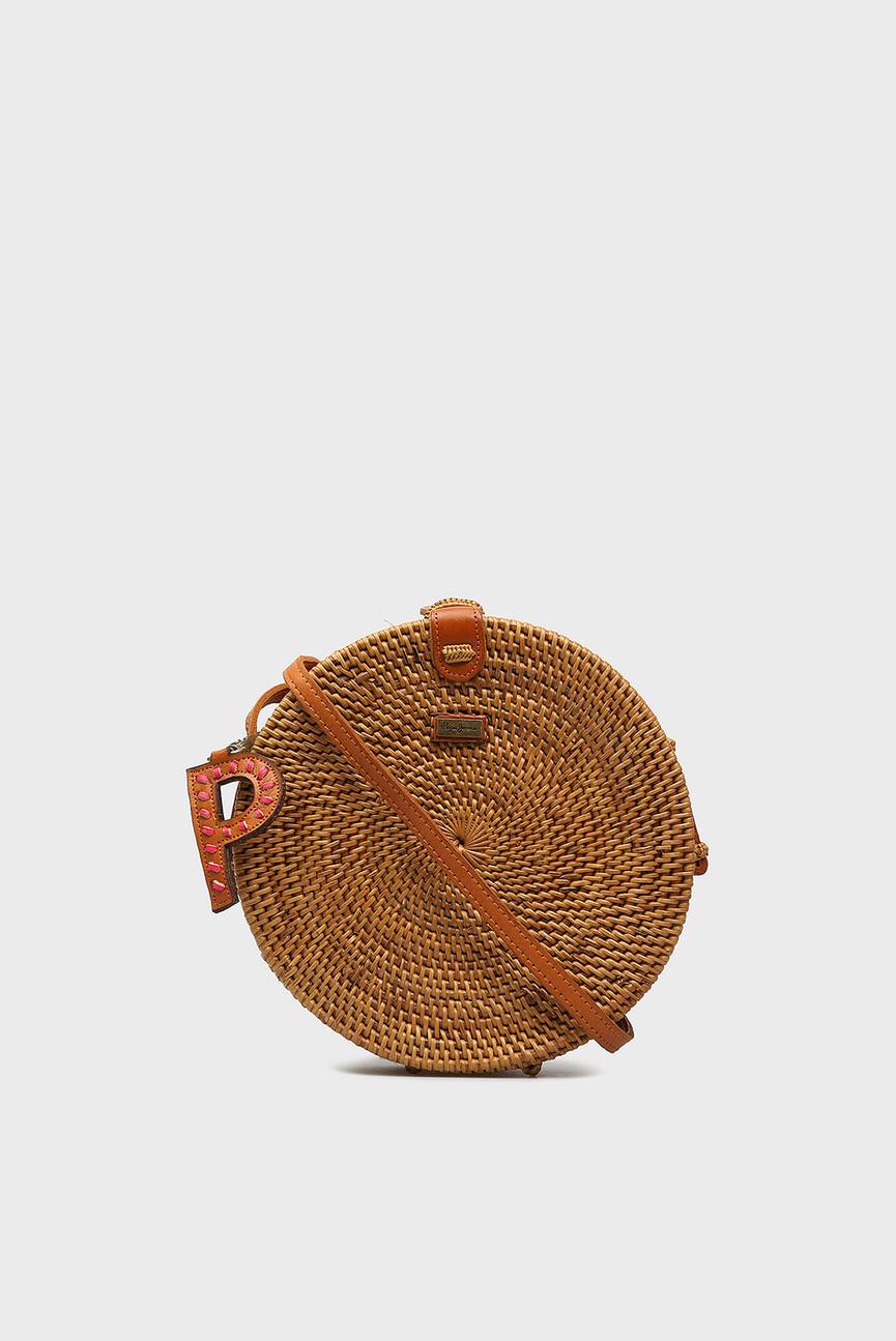 Женская коричневая соломенная сумка JOANNE