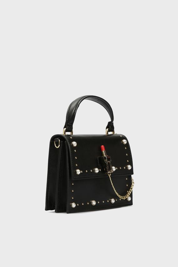 Женская черная сумка через плечо DIVA