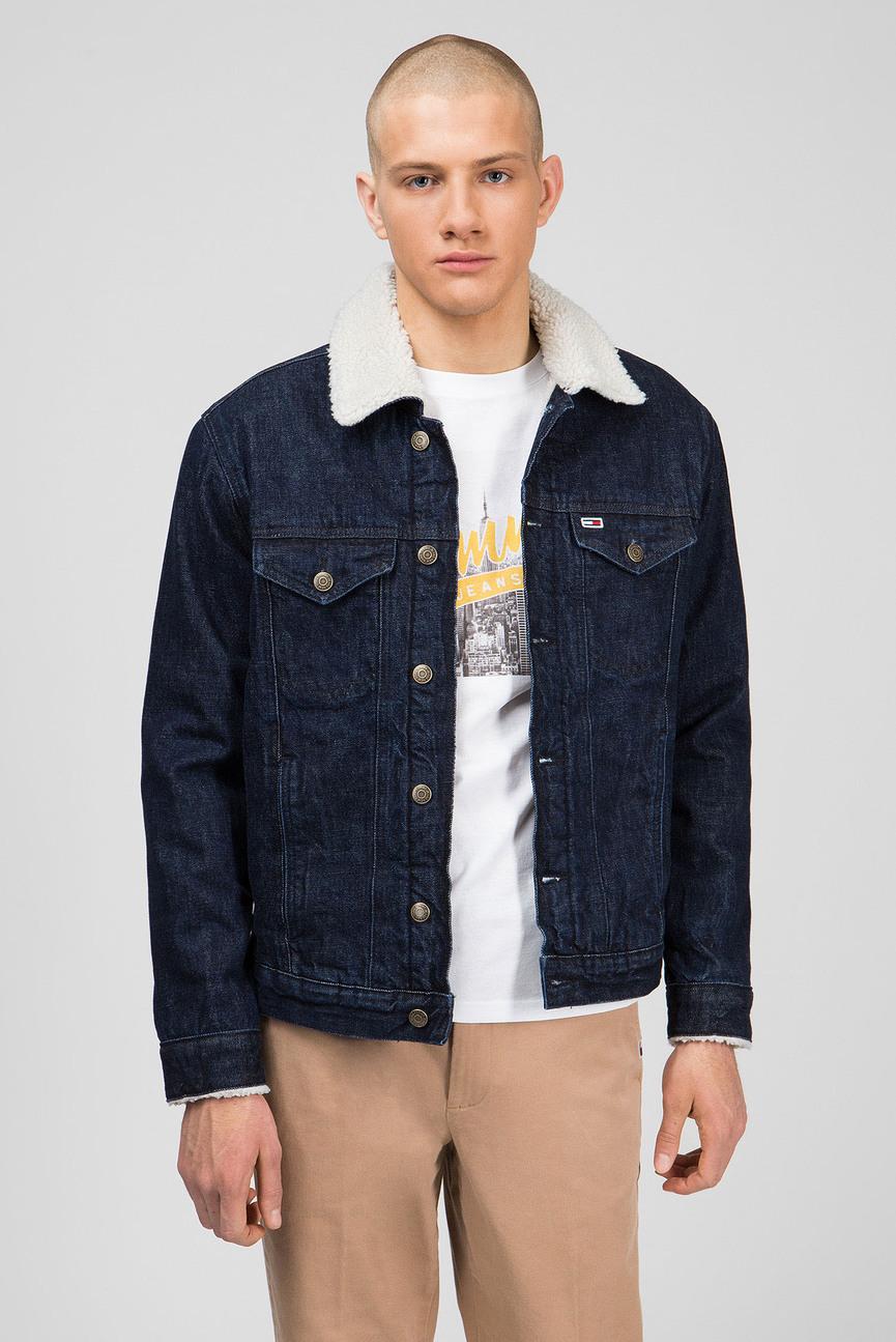 Мужская темно-синяя джинсовая куртка OVRSIZE