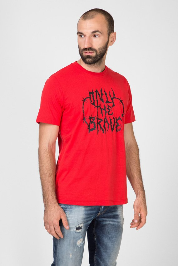 Мужская красная футболка с принтом T-JUST-B23 MAGLIETTA