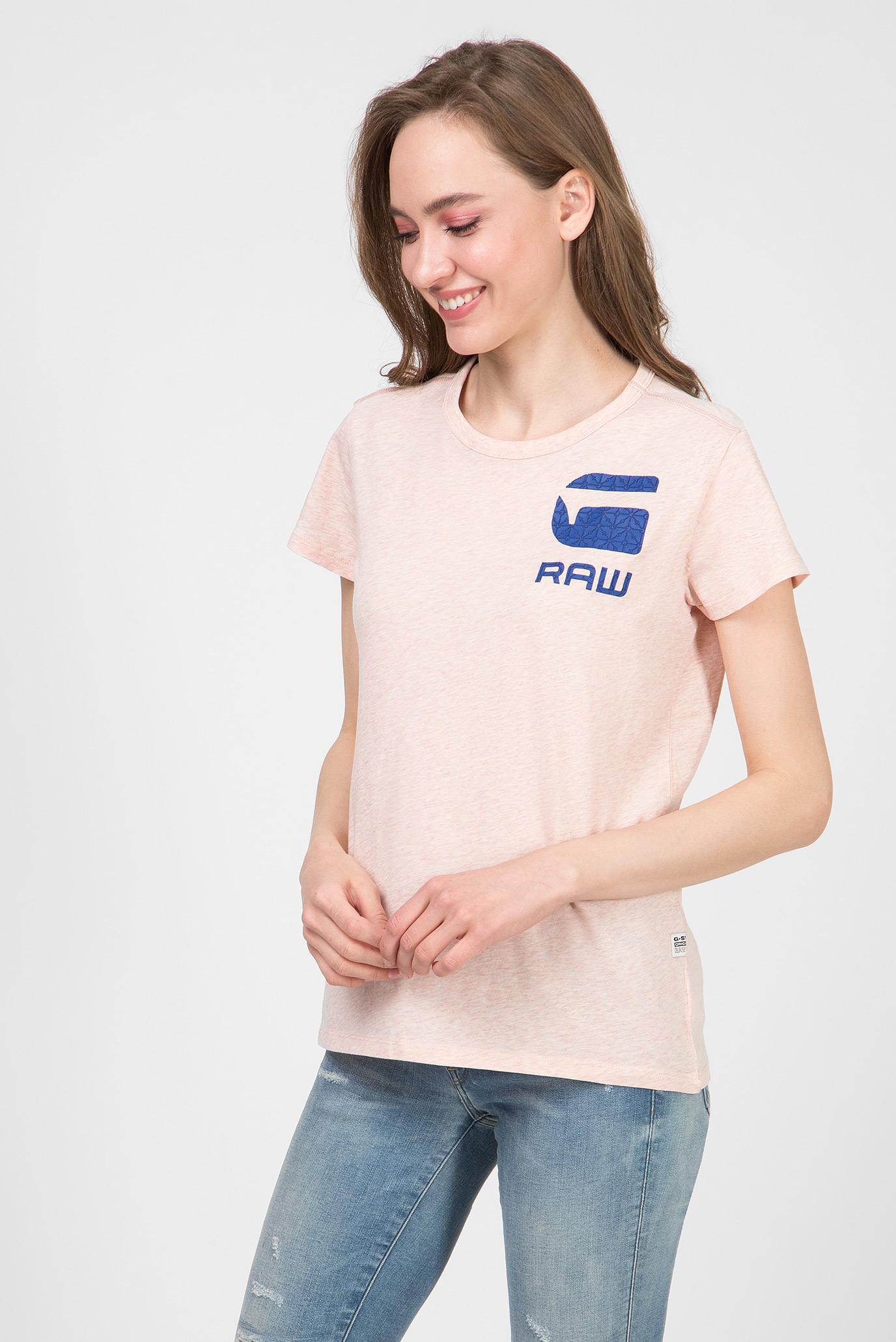 Женская розовая футболка Gyre dialw G-Star RAW