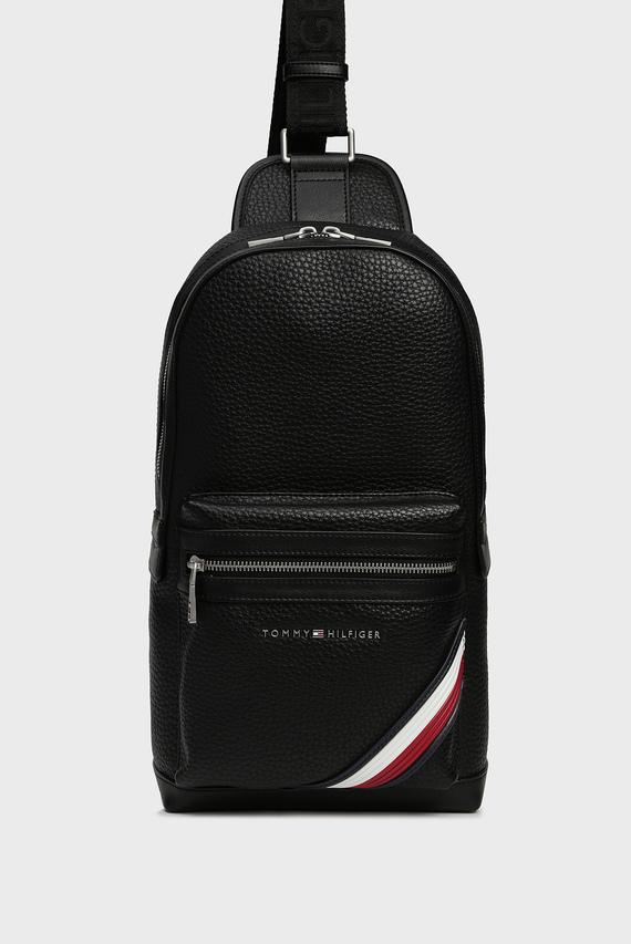 Мужская черная сумка через плечо TH DOWNTOWN