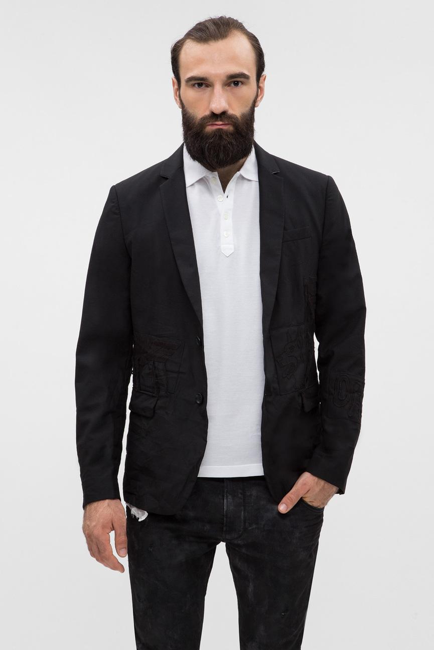 Мужской черный пиджак J-EMMIE GIACCA