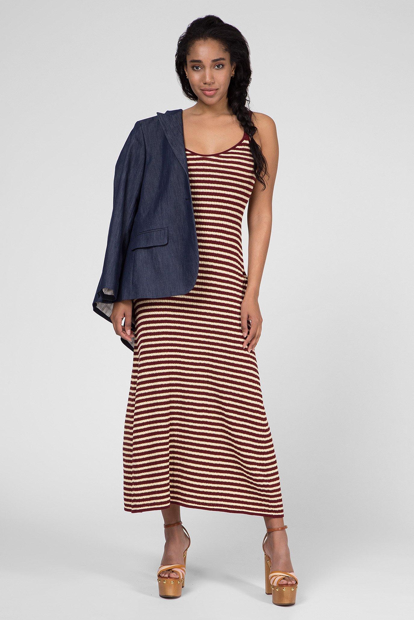 6ea99a8b8d48 Купить Женское бордовое платье в полоску ZENDAYA Tommy Hilfiger ...