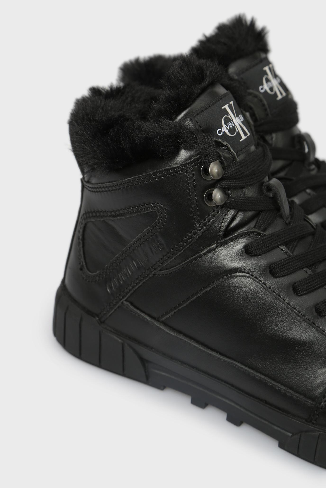 Купить Женские черные кожаные хайтопы BOLLA Calvin Klein Calvin Klein RE9812 – Киев, Украина. Цены в интернет магазине MD Fashion