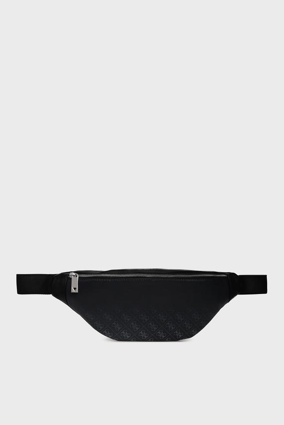 Мужская черная поясная сумка DAN 4G PRINT