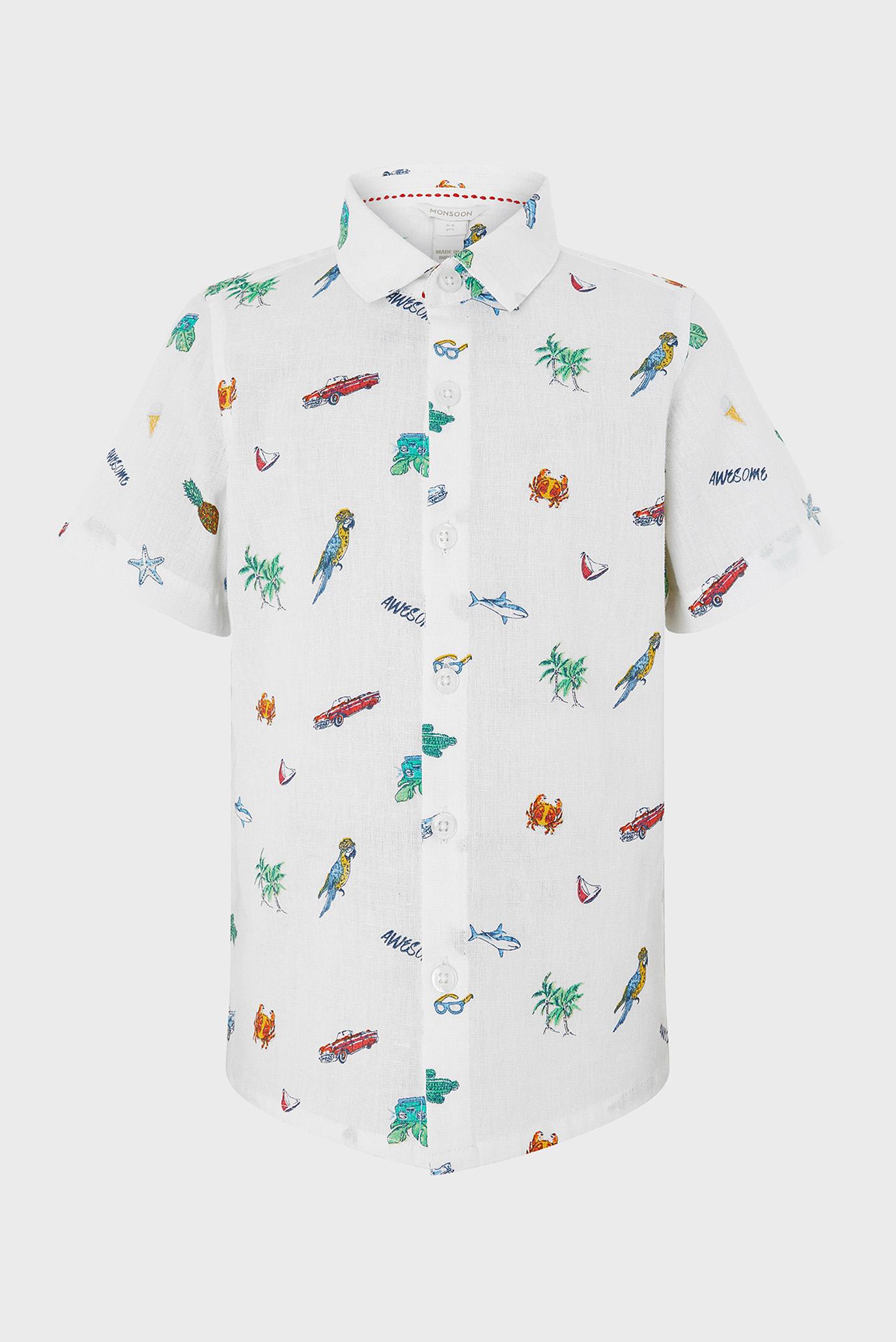 Купить Детская белая рубашка Seamus Summer  Monsoon Children Monsoon Children 616695 – Киев, Украина. Цены в интернет магазине MD Fashion