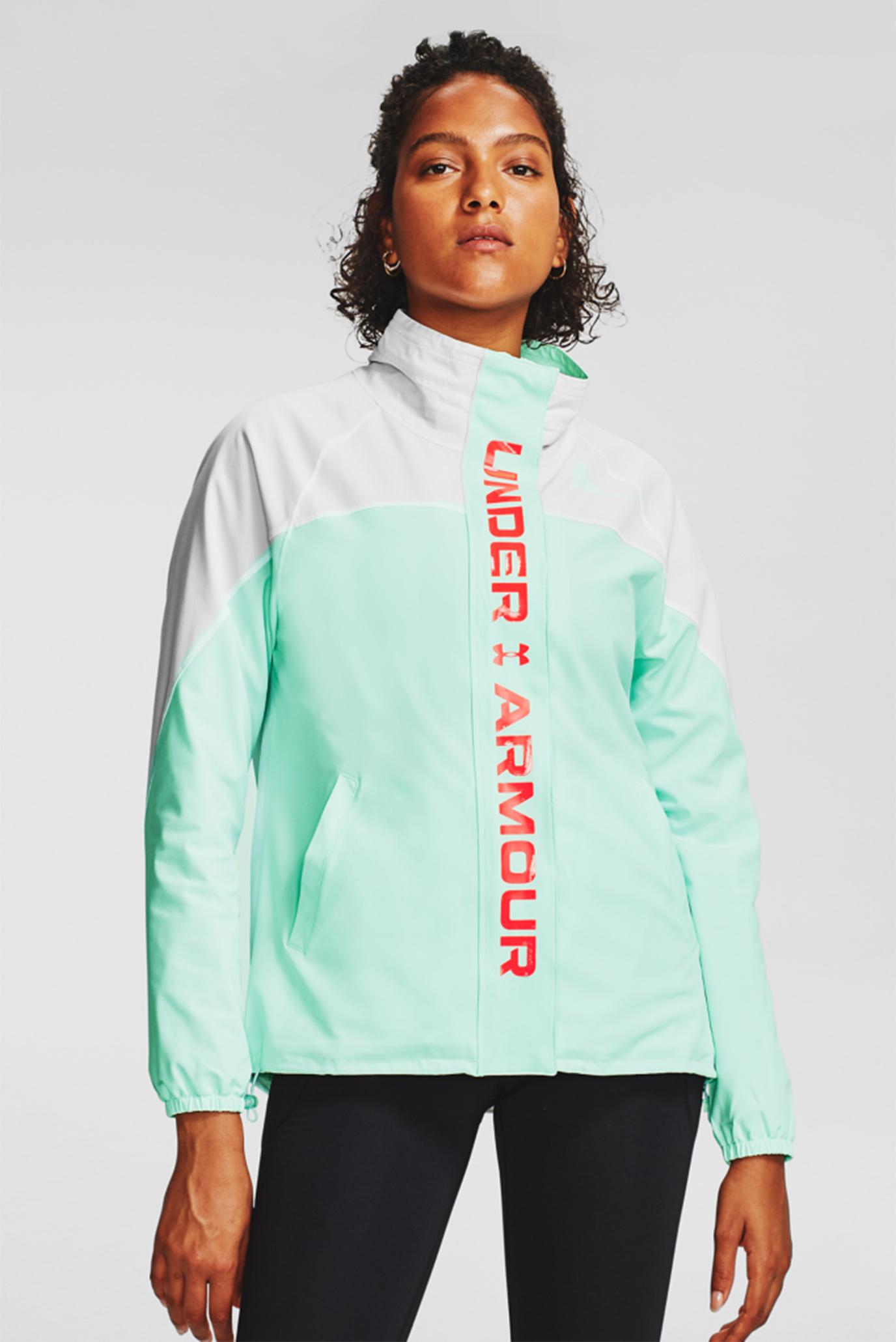 Женская мятная ветровка Recover Woven CB Jacket 1