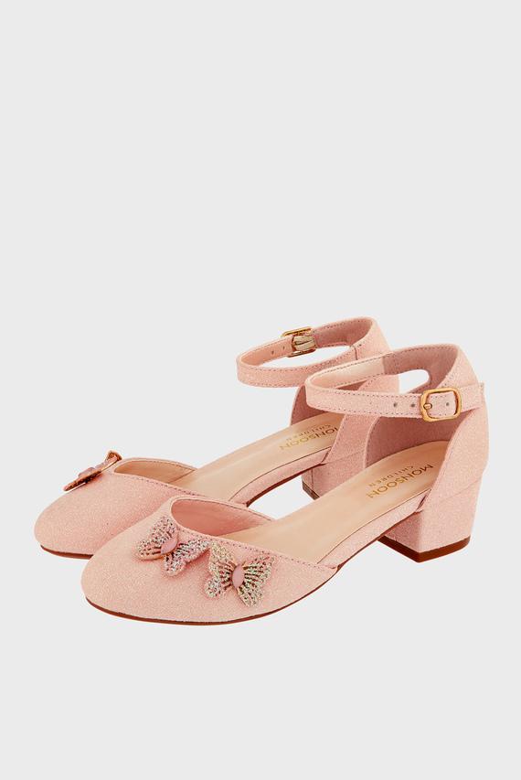 Детские розовые туфли EFFIE SPARKLE BUTTER