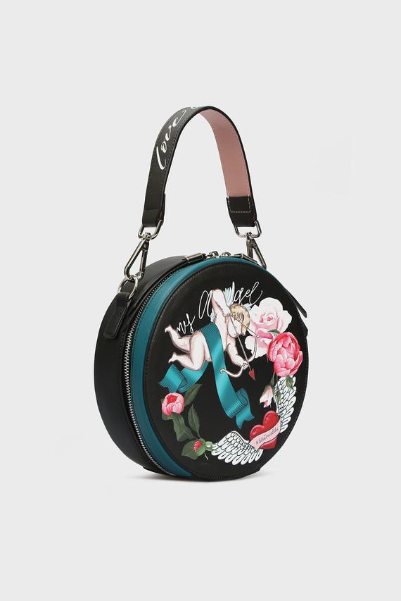 Женская черная сумка через плечо MY ANGEL