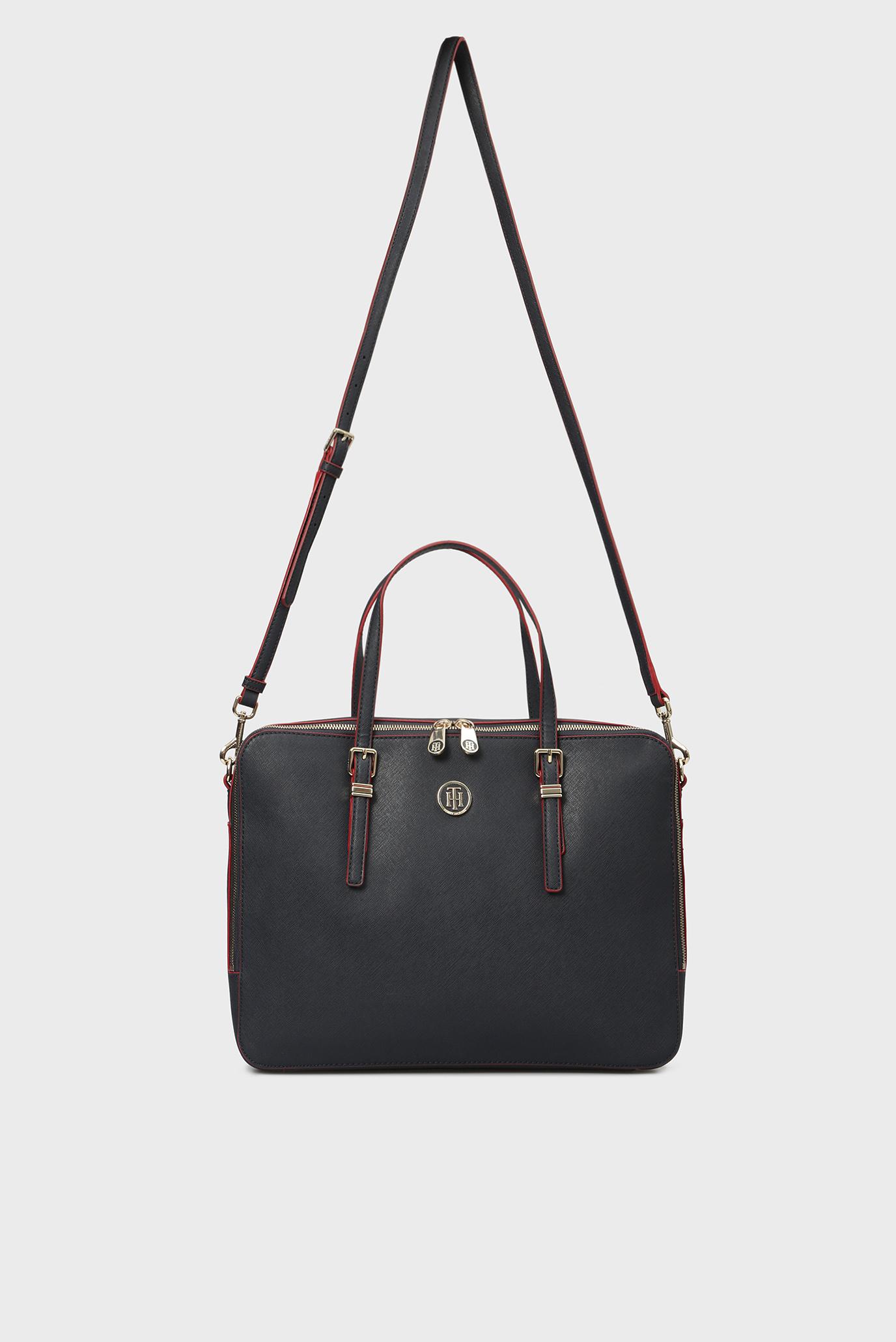 Купить Женская синяя сумка для ноутбука HONEY Tommy Hilfiger Tommy Hilfiger AW0AW05645 – Киев, Украина. Цены в интернет магазине MD Fashion