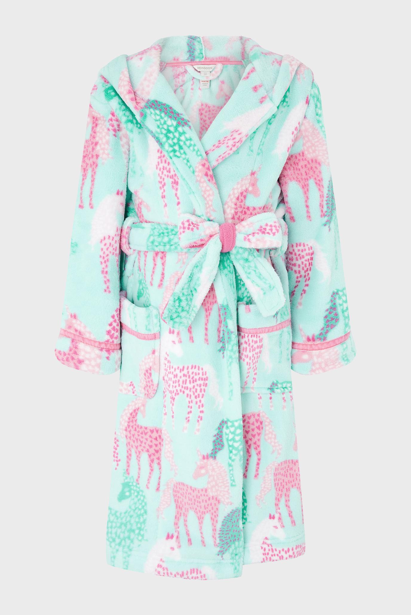 Дитячий бірюзовий халат SUSTAINABLE UNICORN 1