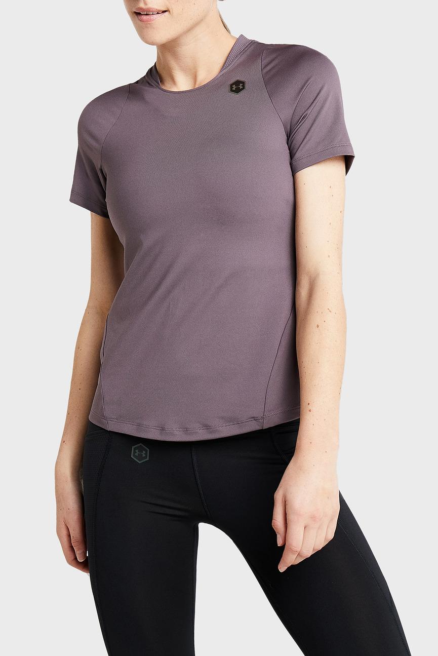 Женская коричневая футболка UA Rush