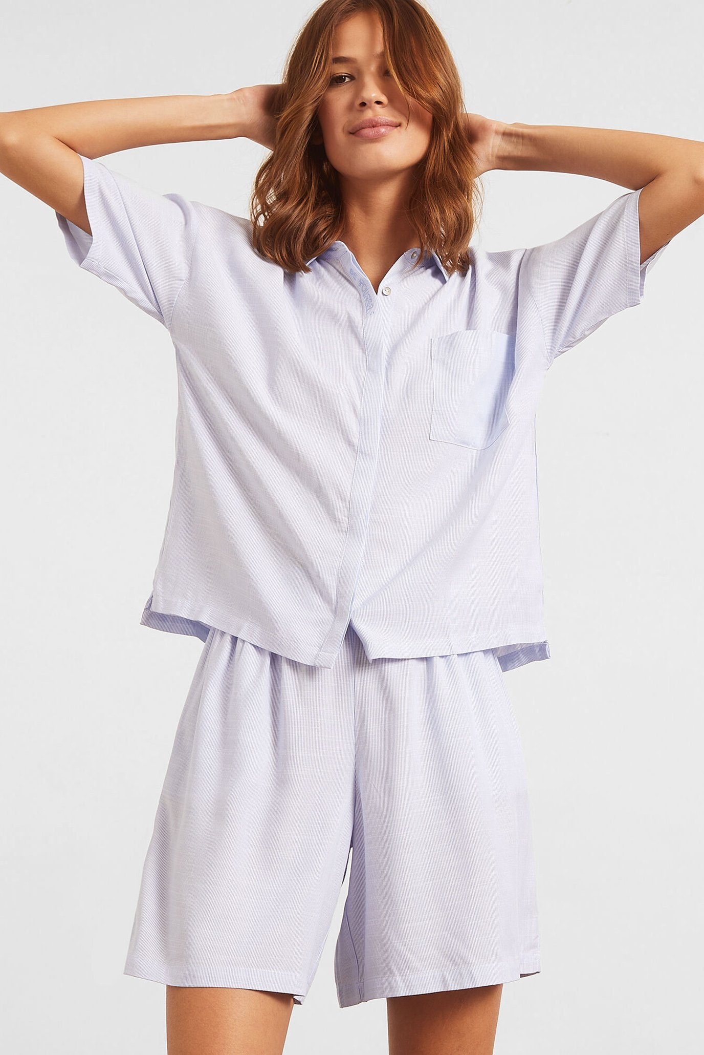 Женская светло-голубая рубашка BAMBA 1