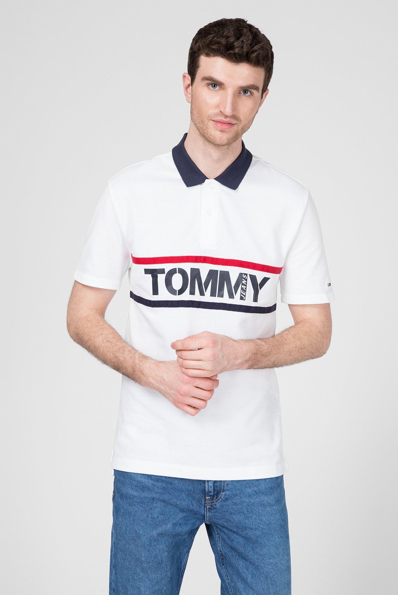 Чоловіче біле поло Tommy Hilfiger