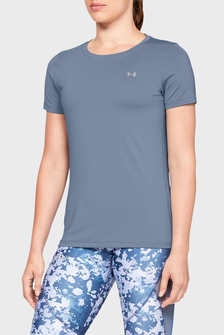 Женская синяя футболка UA HG Armour SS
